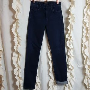Agolde high rise skinny stretch jeans dark wash